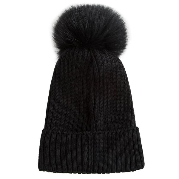 Girls Black Virgin Wool Hat
