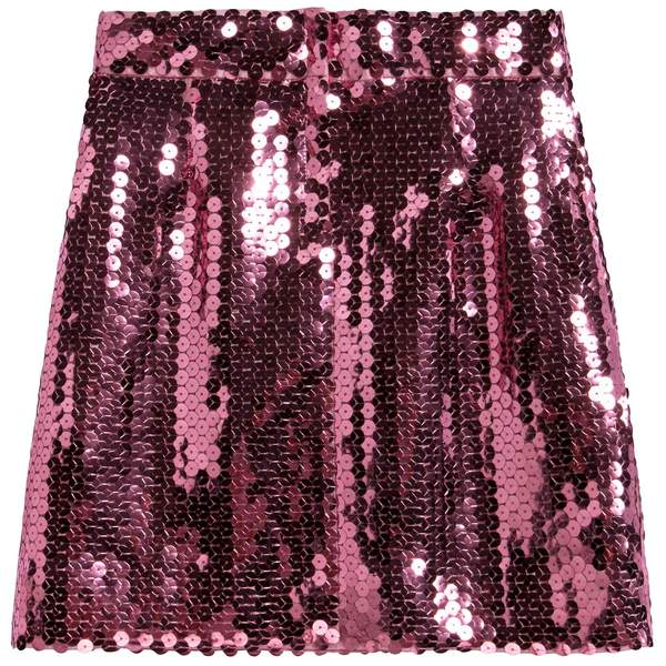 Girls Pink Sequins Skirt
