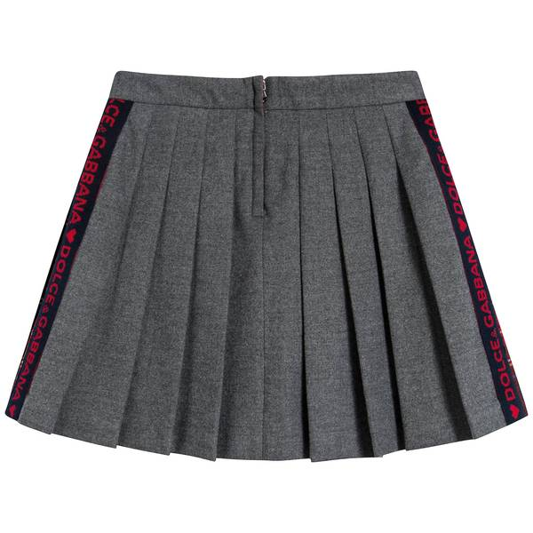 Girls Black & Red Check Skirt