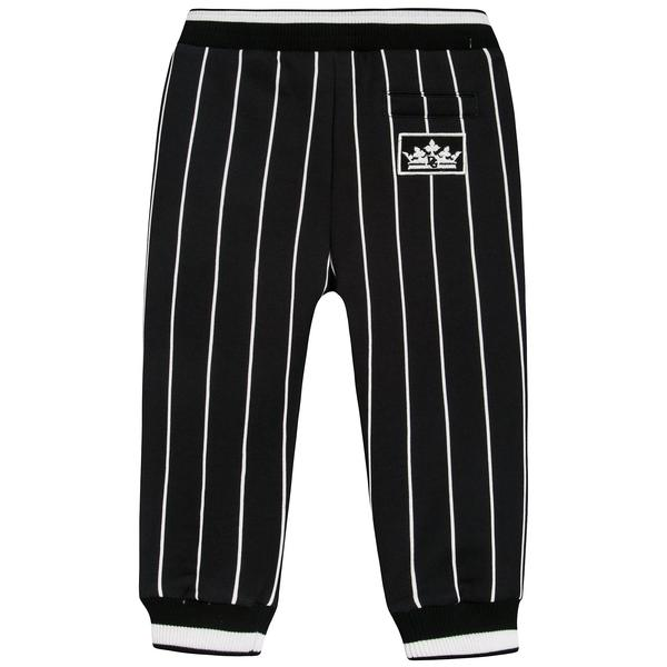 Baby Boys Black Stripes Cotton Trousers