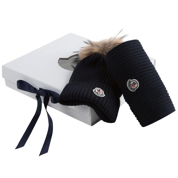 Boys & Girls Navy Blue Plush Trims Knitted Hat & Scarf Sets - CÉMAROSE | Children's Fashion Store - 3