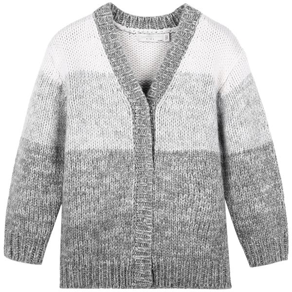 Girls Grey Wool Cardigan