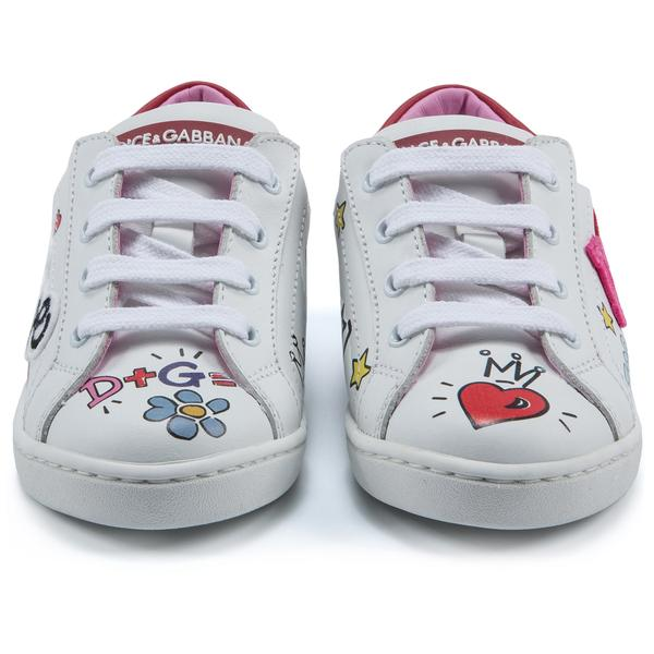 Girls White Calf Shoes