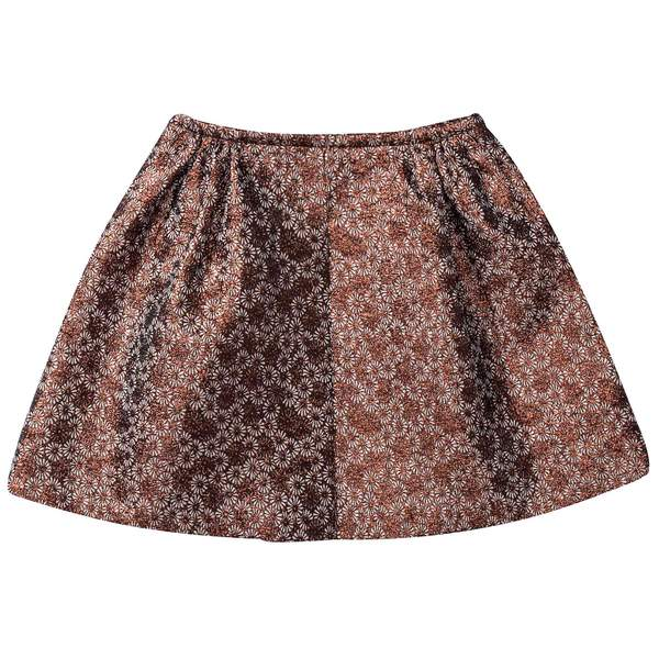 Girls Copper Flower  skirt