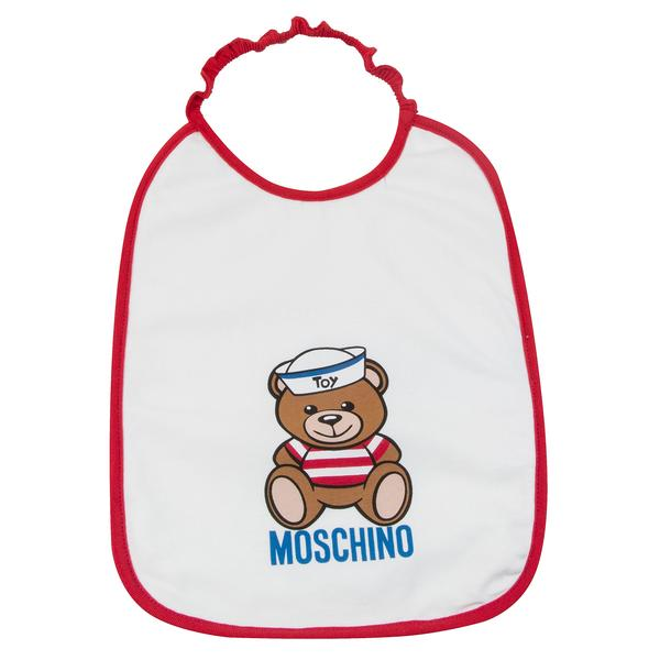 Baby Boys & Girls White Cotton Teddy Bear Bibs Gift Set