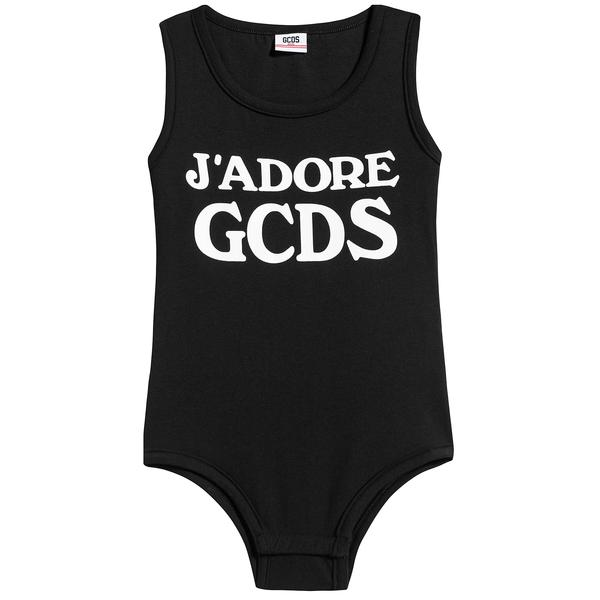 Girls Black Jersey Cotton Babysuits