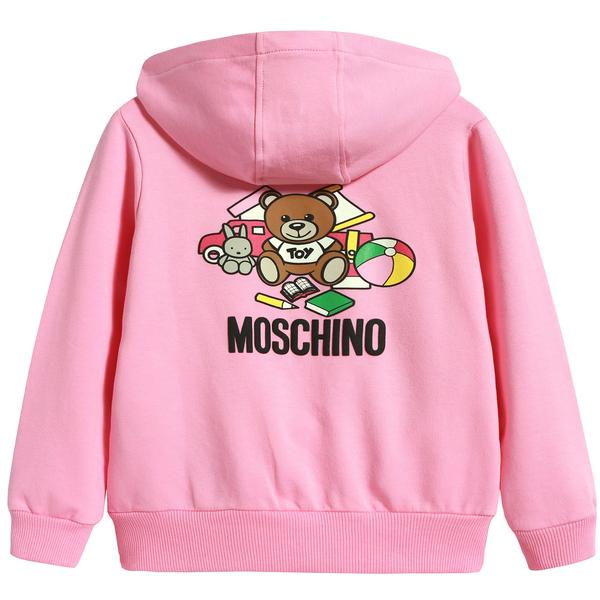 Baby Boys & Girls Pink Zip Hooded Sweatshirt
