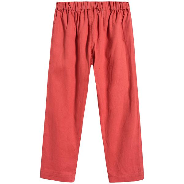 Girls Rose Peach Cotton Trousers