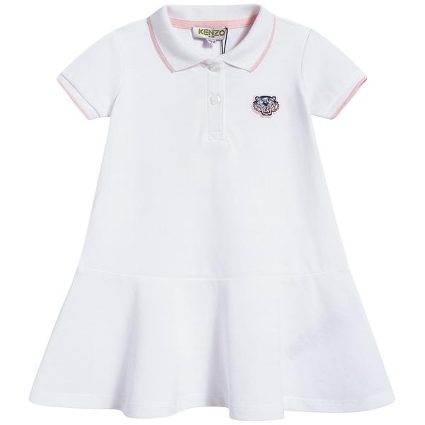 Baby Girls Optical White Cotton Dress