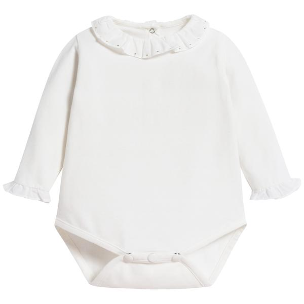 Baby Girls Nacre Cotton Babysuit