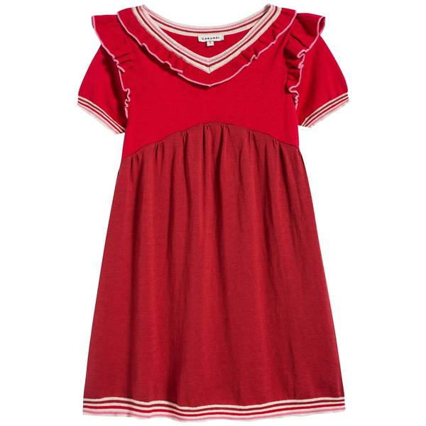 Girls Berry Cotton Dress