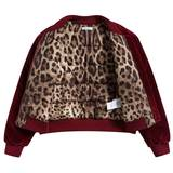 Girls  Red   Velvet  Liner  Pilot   Jacket