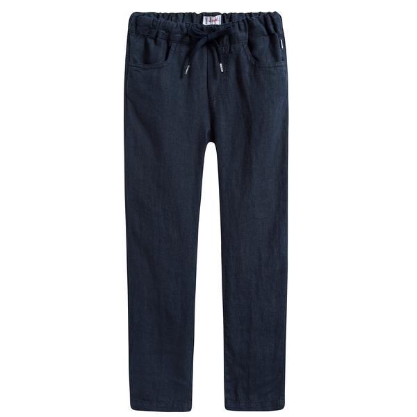 Boys Dark Blue Lien Trousers