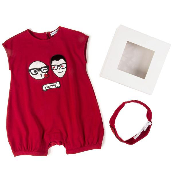 Baby  Girls  Red  Home  Babysuit