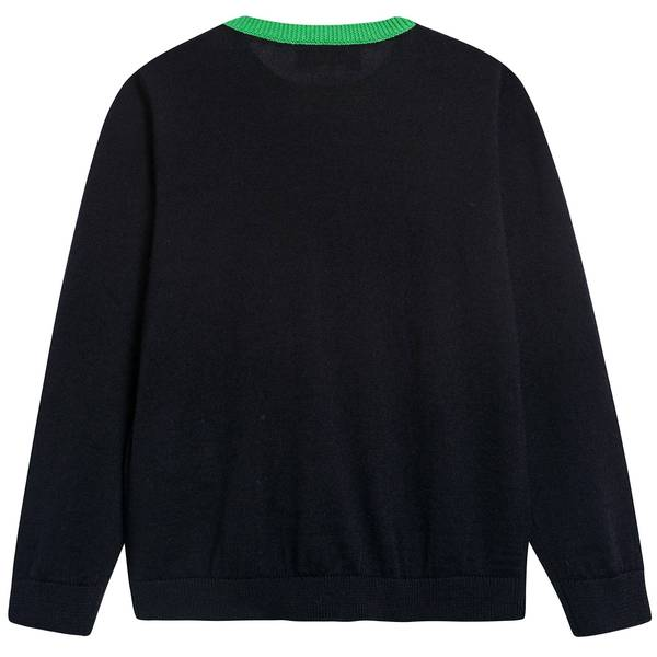 Baby Boys Navy Blue Wool Sweater
