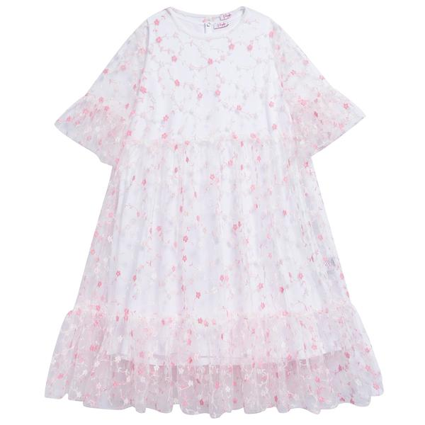 Girls Strong Pink Cotton Dress