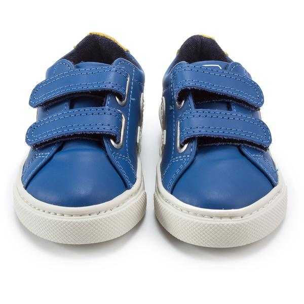 Baby Blue Leather Velcro With White