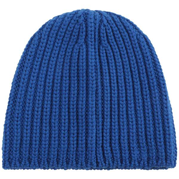 Boys & Girls Bright Blue Logo Wool Hat