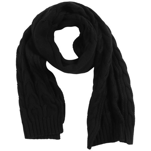 Boys Black Virgin Wool Scarf