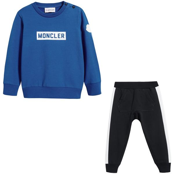 Baby Boys Blue & Black Cotton Set