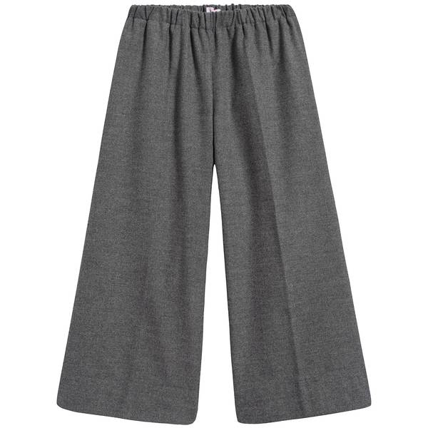 Girls Grey Elastic Waist Trousers