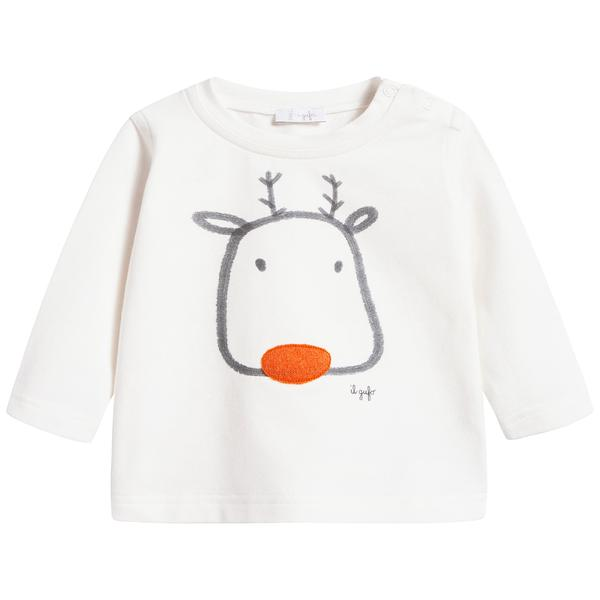 Baby Boys Milk & Carrot Cotton T-shirt