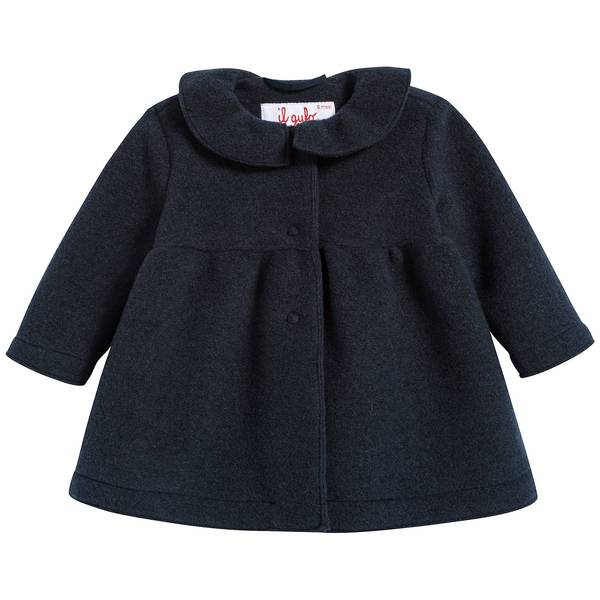 Baby Girls Navy Blue Coat