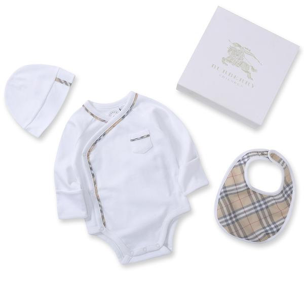Baby White Cotton Babysuit Set