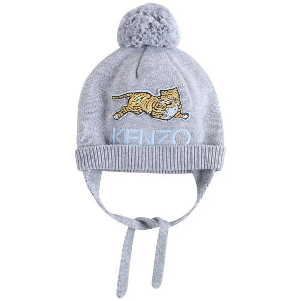 Baby Boys Marl Grey Cotton Hat
