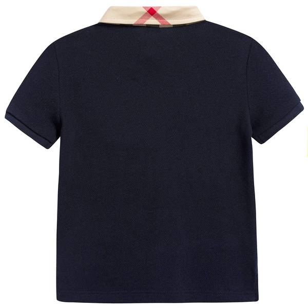 Baby Boys True Navy Cotton Polo Shirt
