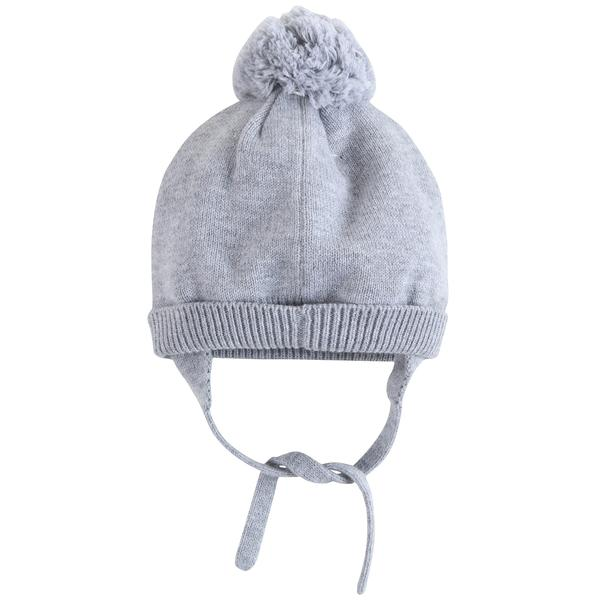 Baby Girls Marl Grey Cotton Hat