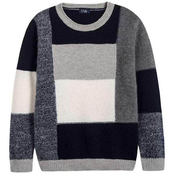 Boys Grey Wool Sweater