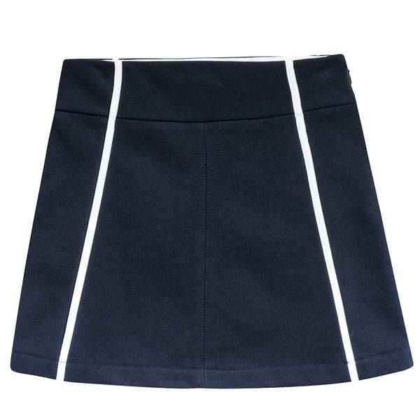 Girls Navy Blue Cotton Skirt