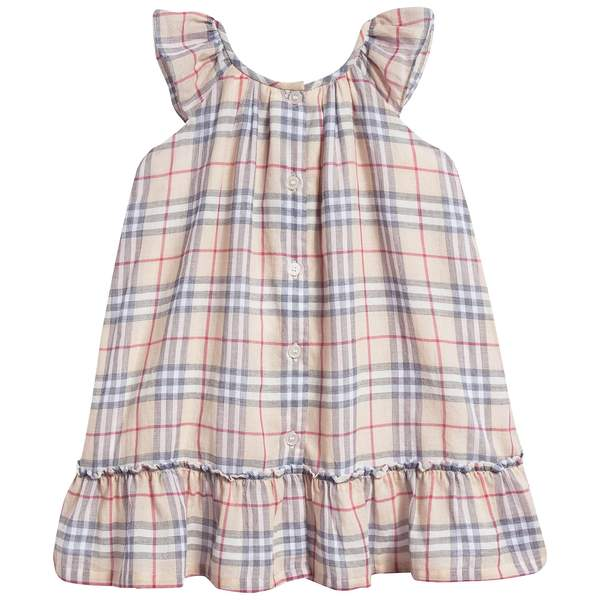 Baby Girls Pale Stone Cotton Dress