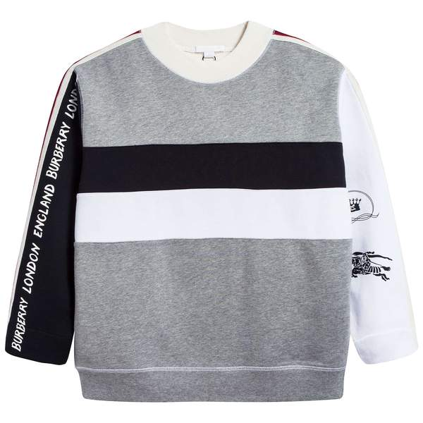 Boys Grey Memange Cotton Sweaters