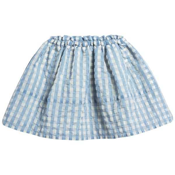 Girls Pale Blue Woven Skirt