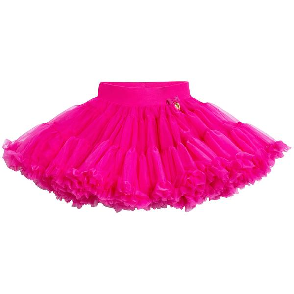 Girls Fuchsia Nylon Knitted Skirt
