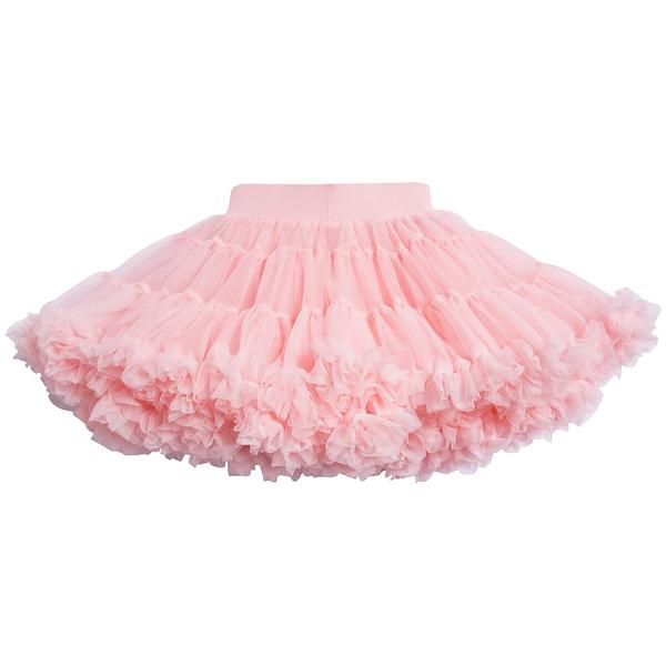 Girls Rose Pink Nylon Knitted Skirt