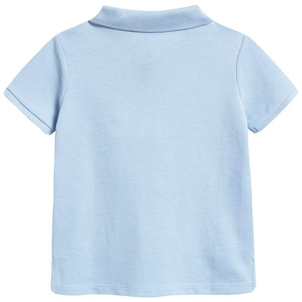 Baby Boys Sky Blue Cotton Polo Shirt