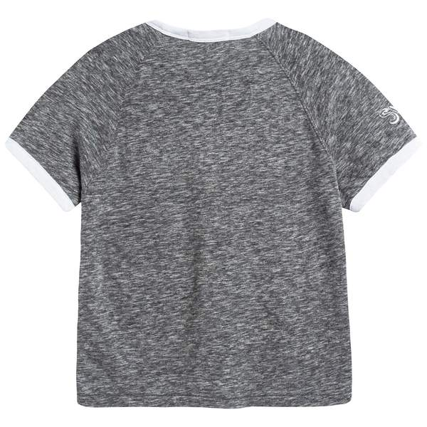 Boys Dark Grey Melange Cotton T-shirt