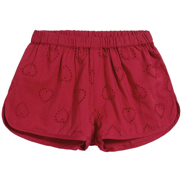 Girls Red Heart Cotton Shorts