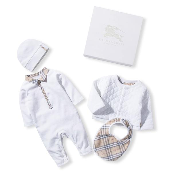 Baby White Cotton Three-piece Gift Set