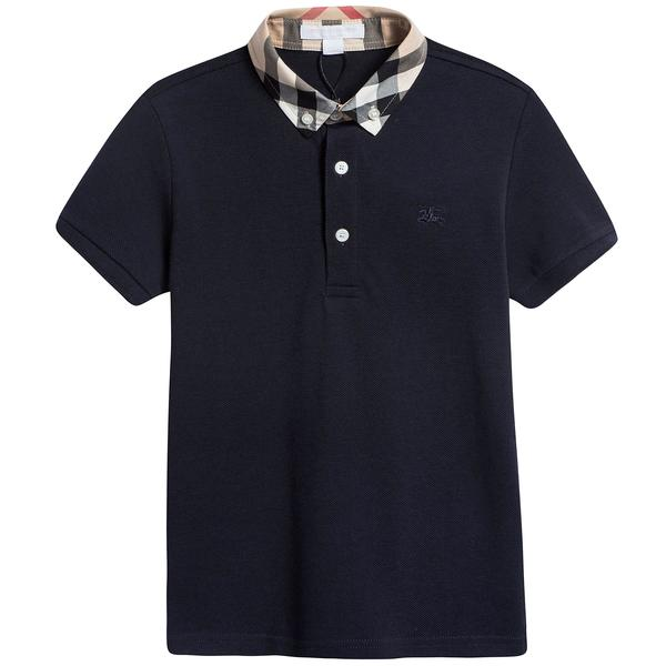 Boys True Navy Cotton Polo Shirt