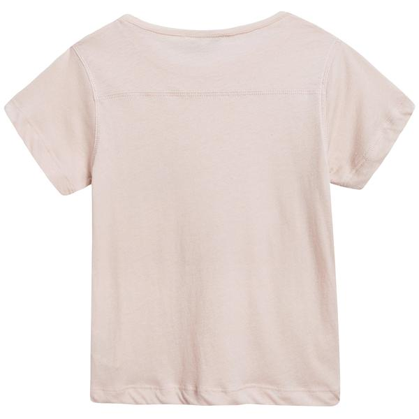 Girls Blush Pink Cotton Jersey T-shirt