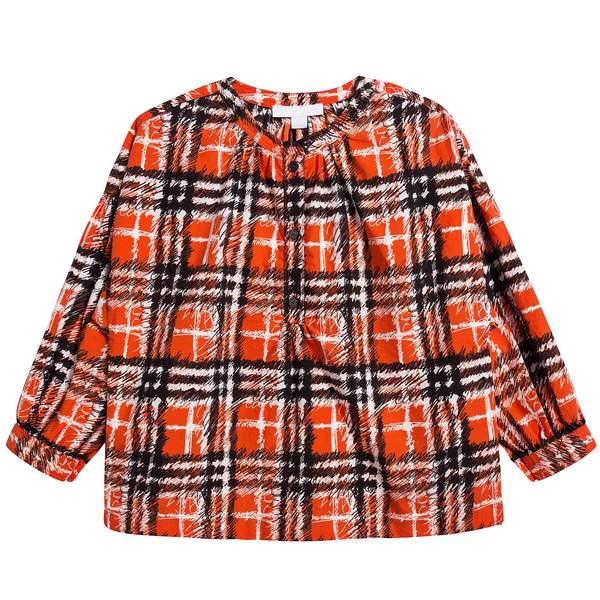Girls Bright Red Cotton Blouse