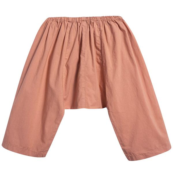 Baby Girls Peach Cotton Woven Trousers