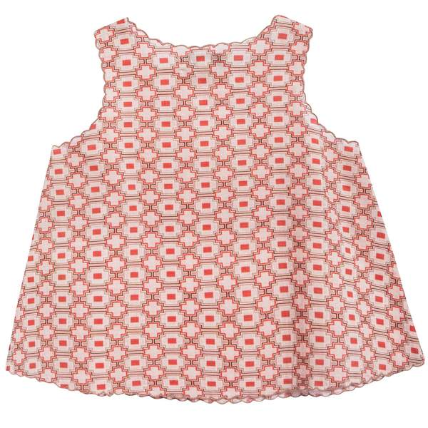Baby Girls Kaleido Red Cotton Woven Top