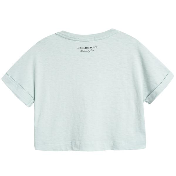 Girls Pale Mint Cotton T-shirt