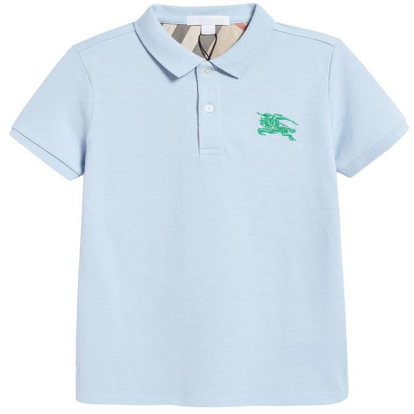 Boys Sky Blue Cotton Polo Shirt