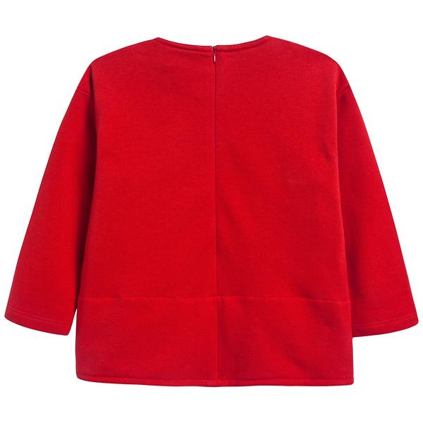 Girls Flame Red Cotton Sweater